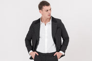 CLASSIC slim-fit, stretchable striped designer blazer