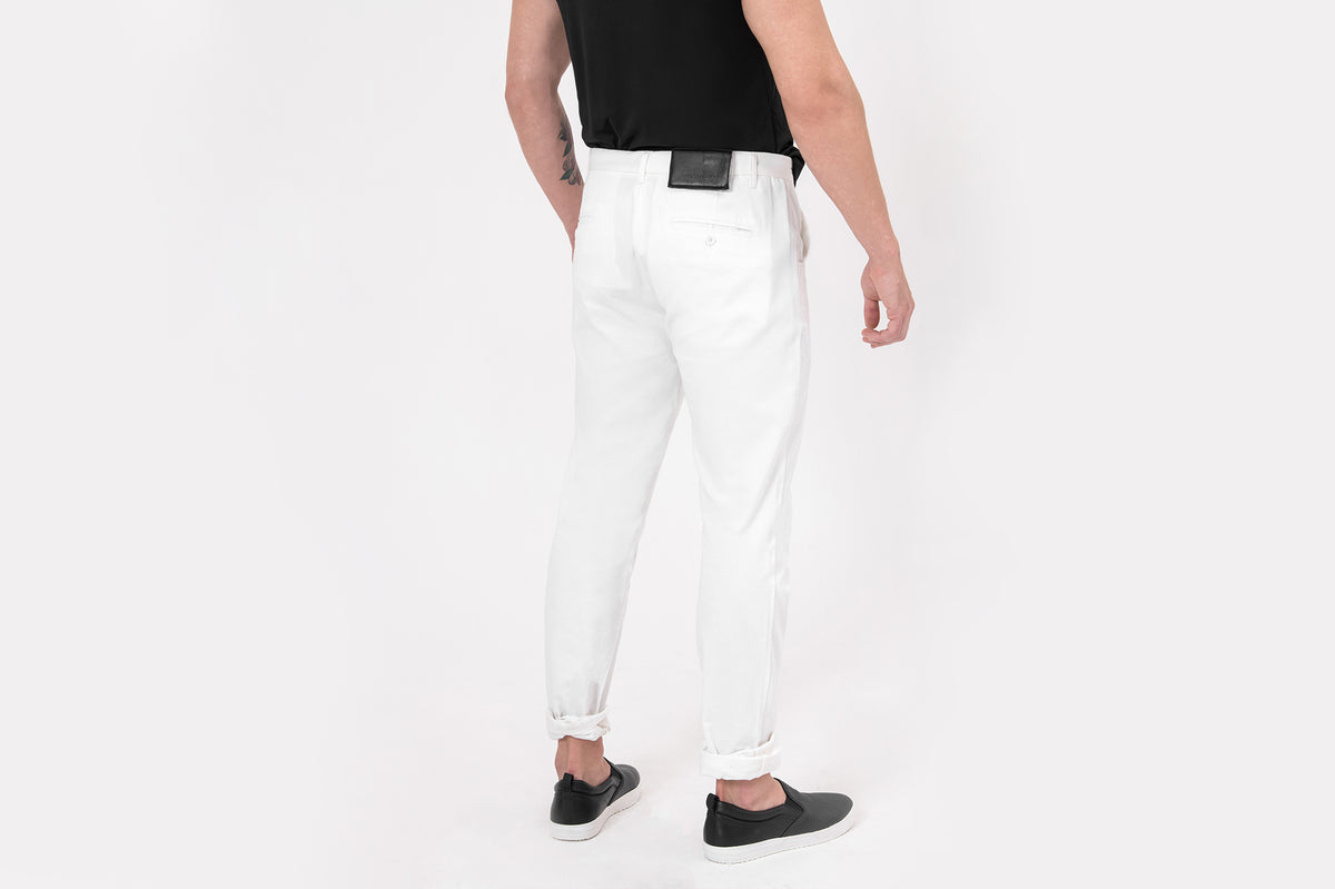CATLIGHT self-clean, slim-fit jeans in White