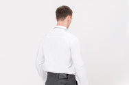 CATLIGHT self-clean long sleeve shirt in White with reflective collar