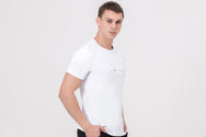STUD Nano-sweat T-Shirt in white