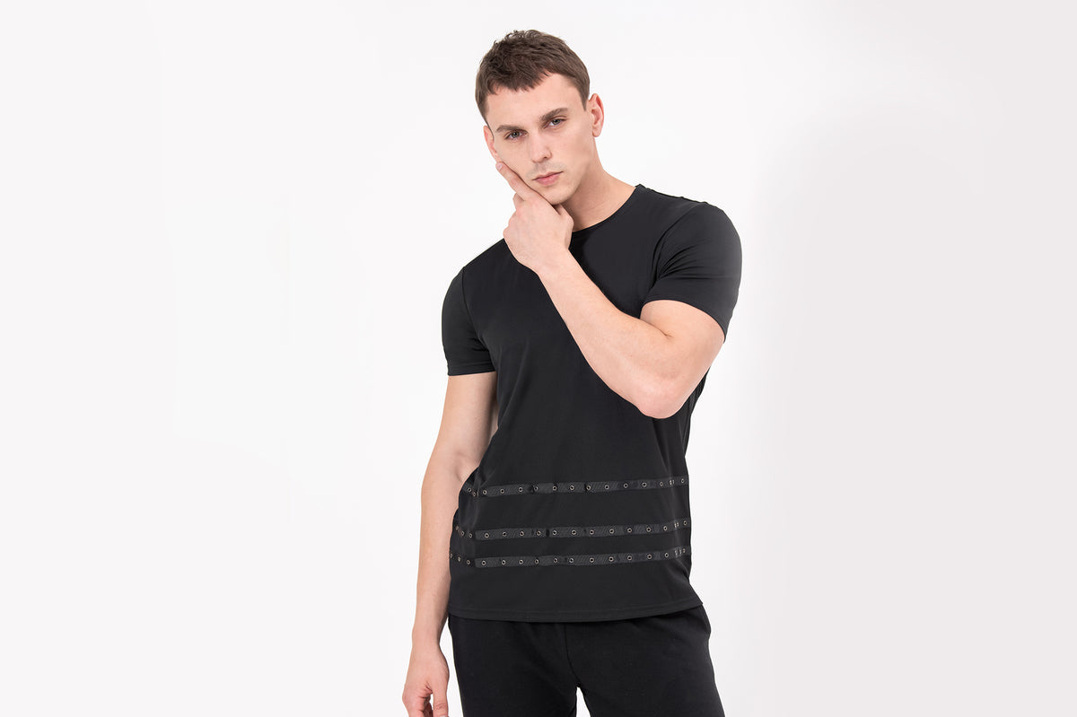 CREW Nano-Sweat T-shirt in Black