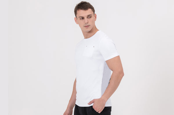 POCKET Nano-Sweat Short Sleeve T-shirt in White