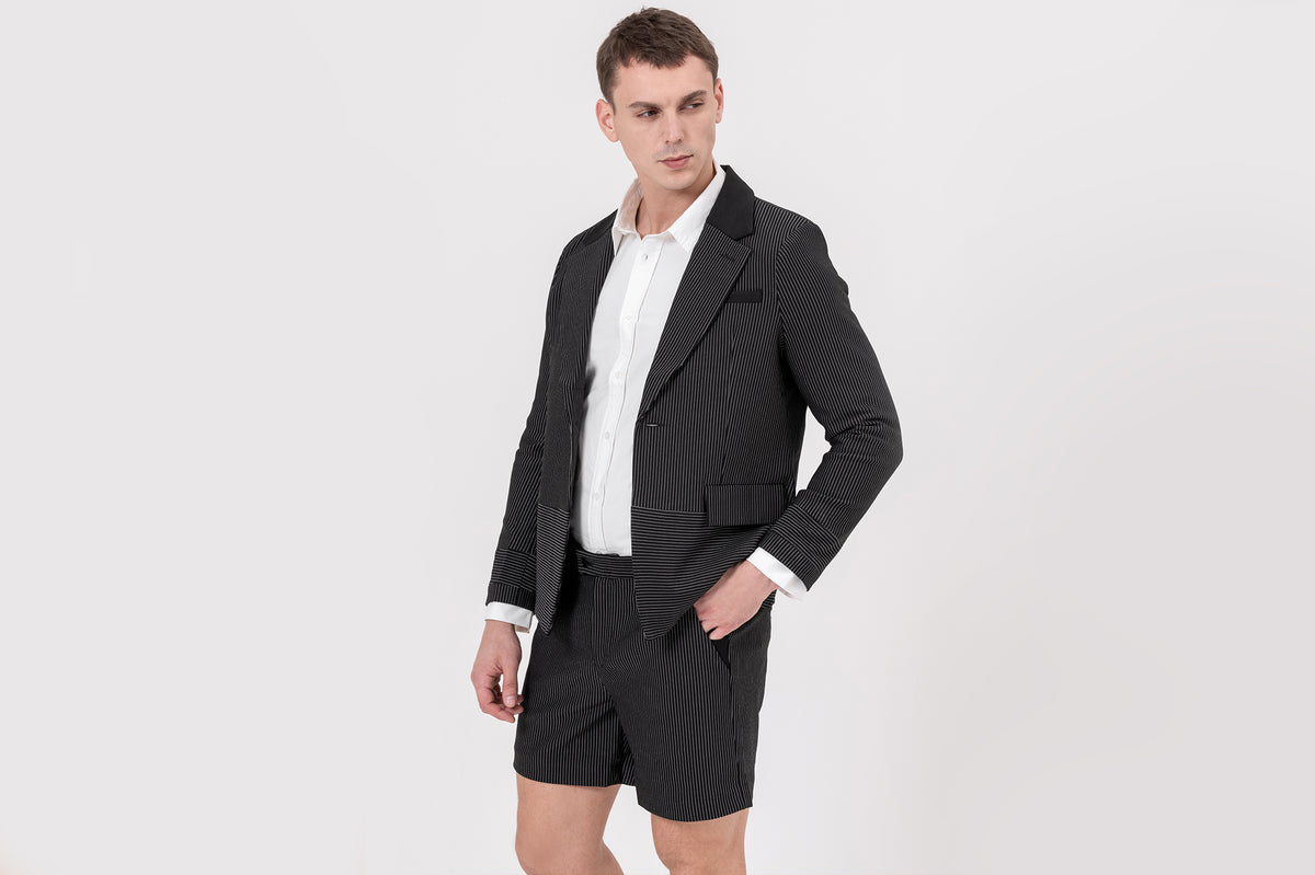 CLASSIC slim-fit, stretchable striped designer shorts