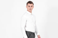 CATLIGHT classic, slim-fit, self-clean long sleeve shirt in white