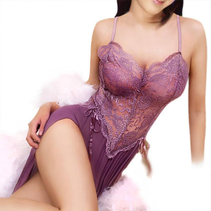Embroidery Women Slip lace W/ Panties- Sexy Lingerie Set- Ladies