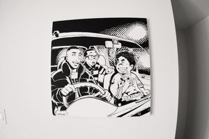 Driving with my homies (canvas)