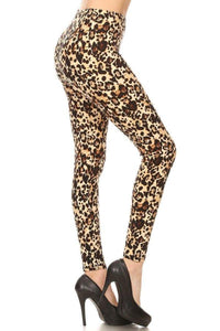 Buttery Soft One Size Printed Brown Leopard