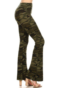 Bell Bottom Leggings Camoflauge - London Poppy Store
