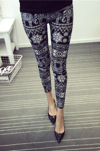 Buttery Soft One Size Printed Leggings Elephants