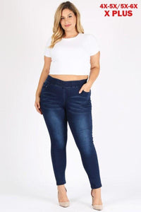 Denim Jeggings Dark Blue - London Poppy Store
