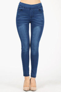 Denim Jeggings Medium Blue