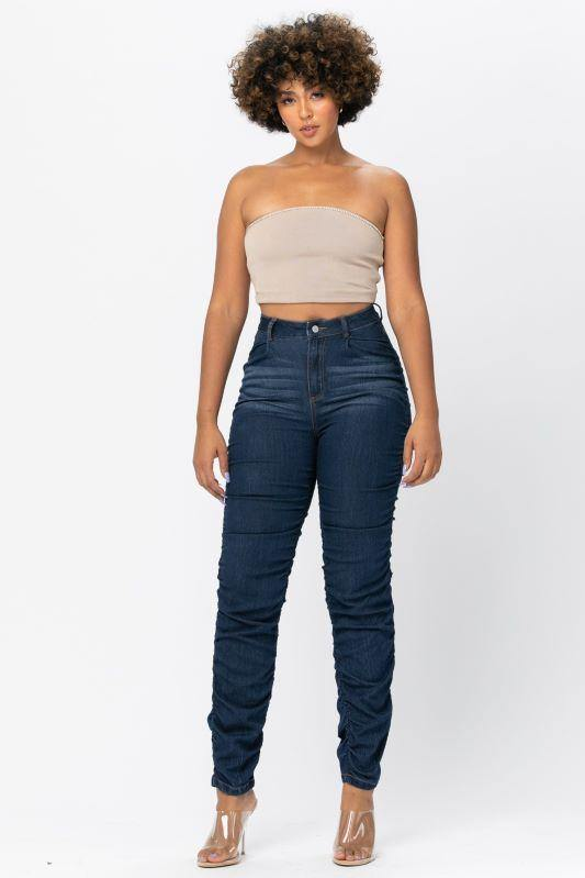 Double Stacked Denim Jeans - London Poppy Store