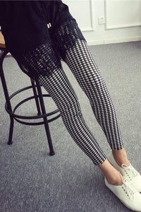 Buttery Soft One Size Printed Leggings Houndstooth