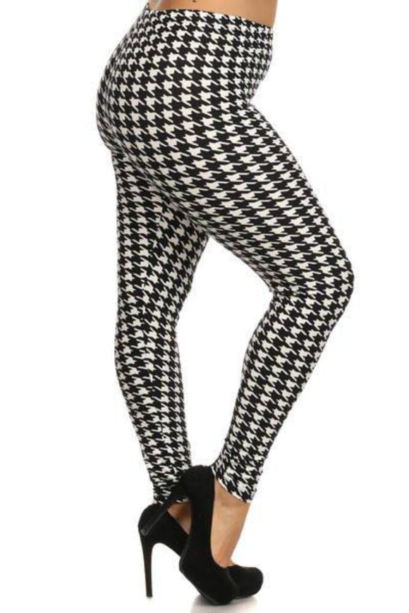 Buttery Soft One Size Houndstooth - London Poppy Store