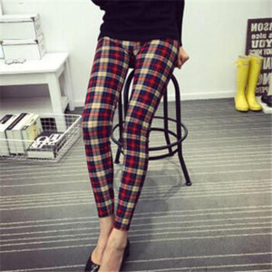 Buttery Soft One Size Printed Leggings Lovely Plaid
