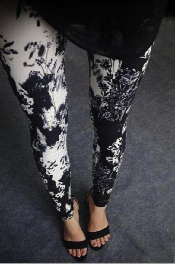 Buttery Soft One Size Printed Leggings Lovely Flower