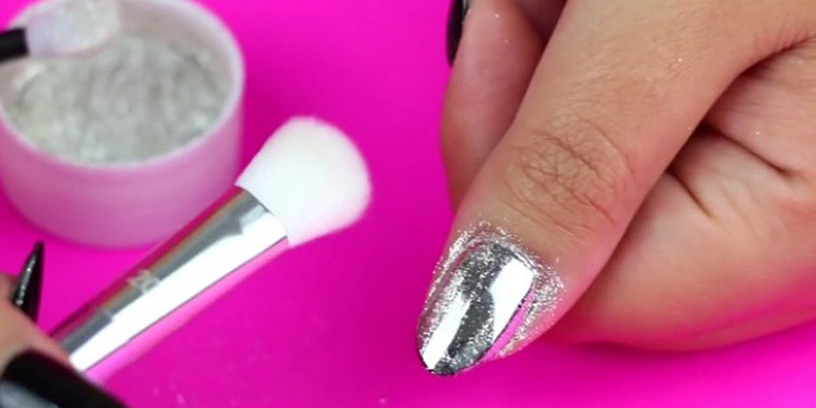 Mirror Chrome Nails in 10 Minutes