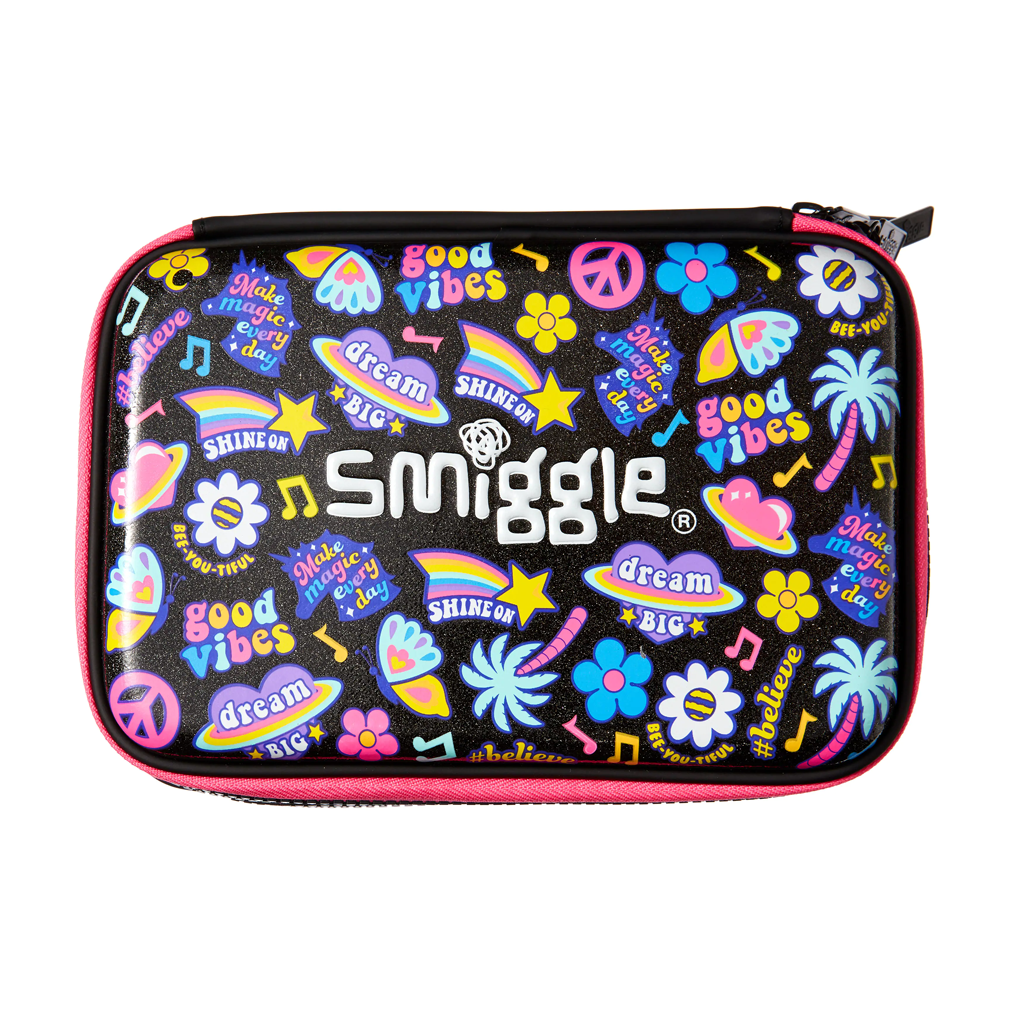 SMIGGLE - EXPRESS DOUBLE UP HARDTOP PENCIL CASE MIX