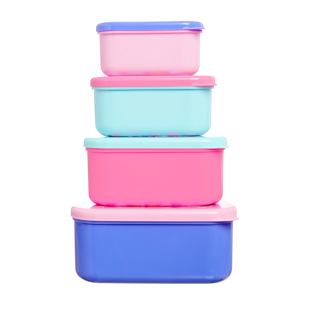 SMIGGLE - HAPPY SNACK N STACK CONTAINERS X4 PINK - MyVaniteeCase