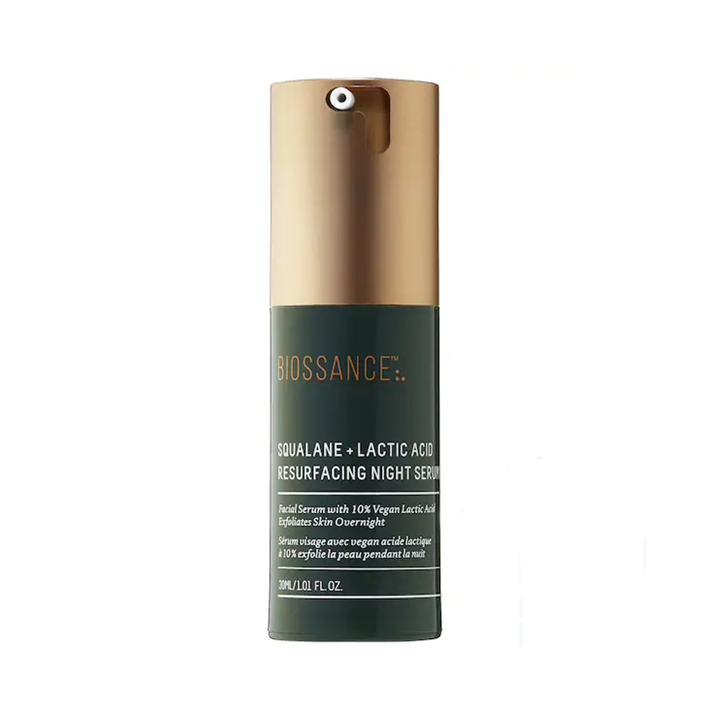 BIOSSANCE - SQUALANE + 10% LACTIC ACID RESURFACING NIGHT SERUM (30 ML) - MyVaniteeCase