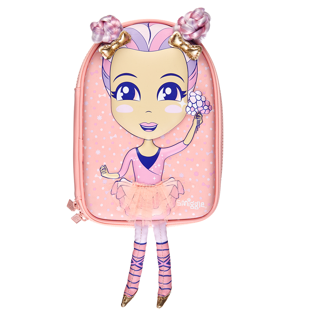 SMIGGLE - DOLLY WISHES HARDTOP PENCIL CORAL - MyVaniteeCase