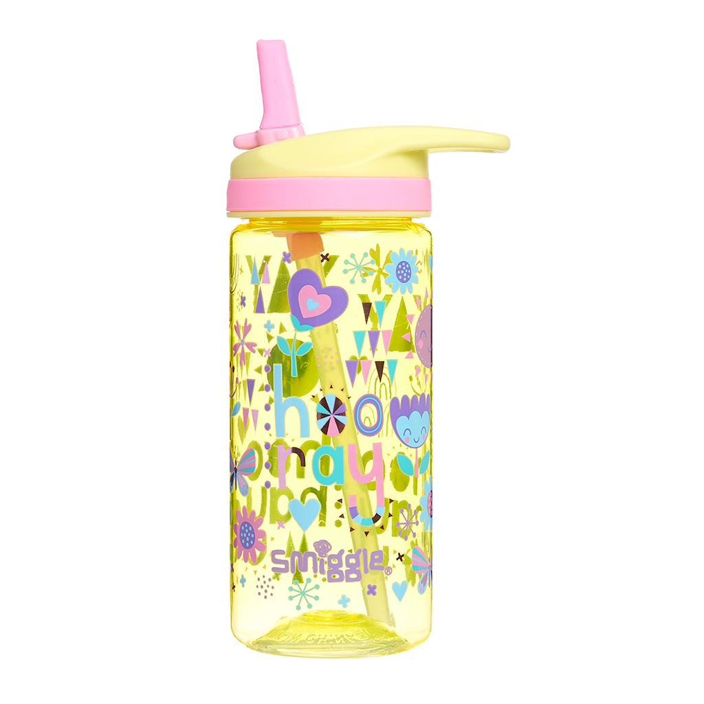 SMIGGLE - HOORAY LEMON JUNIOR DRINK BOTTLE
