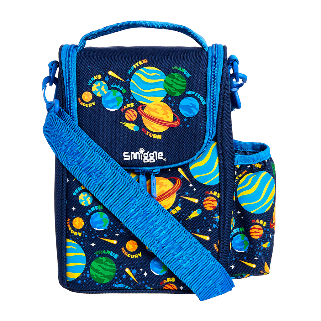 SMIGGLE  - HOORAY NAVY JUNIOR STRAP LUNCHBOX