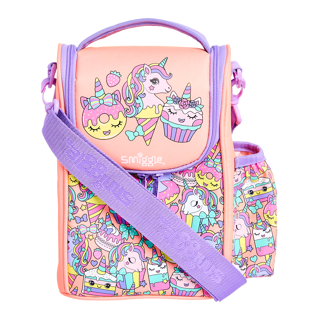SMIGGLE  - HOORAY CORAL JUNIOR STRAP LUNCHBOX