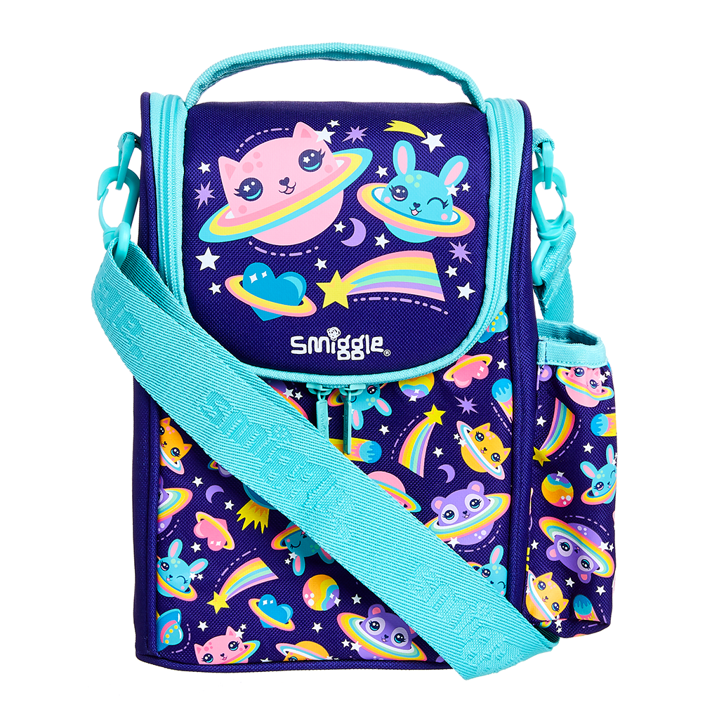 SMIGGLE  - HOORAY DARK PURPLE JUNIOR STRAP LUNCHBOX - MyVaniteeCase