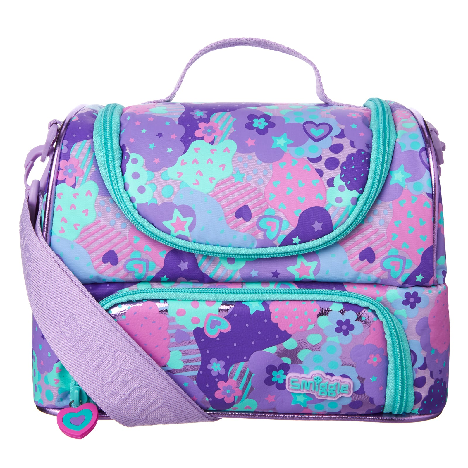 SMIGGLE - POPPIN DOUBLE STRAP LUNCHBOX PURPLE
