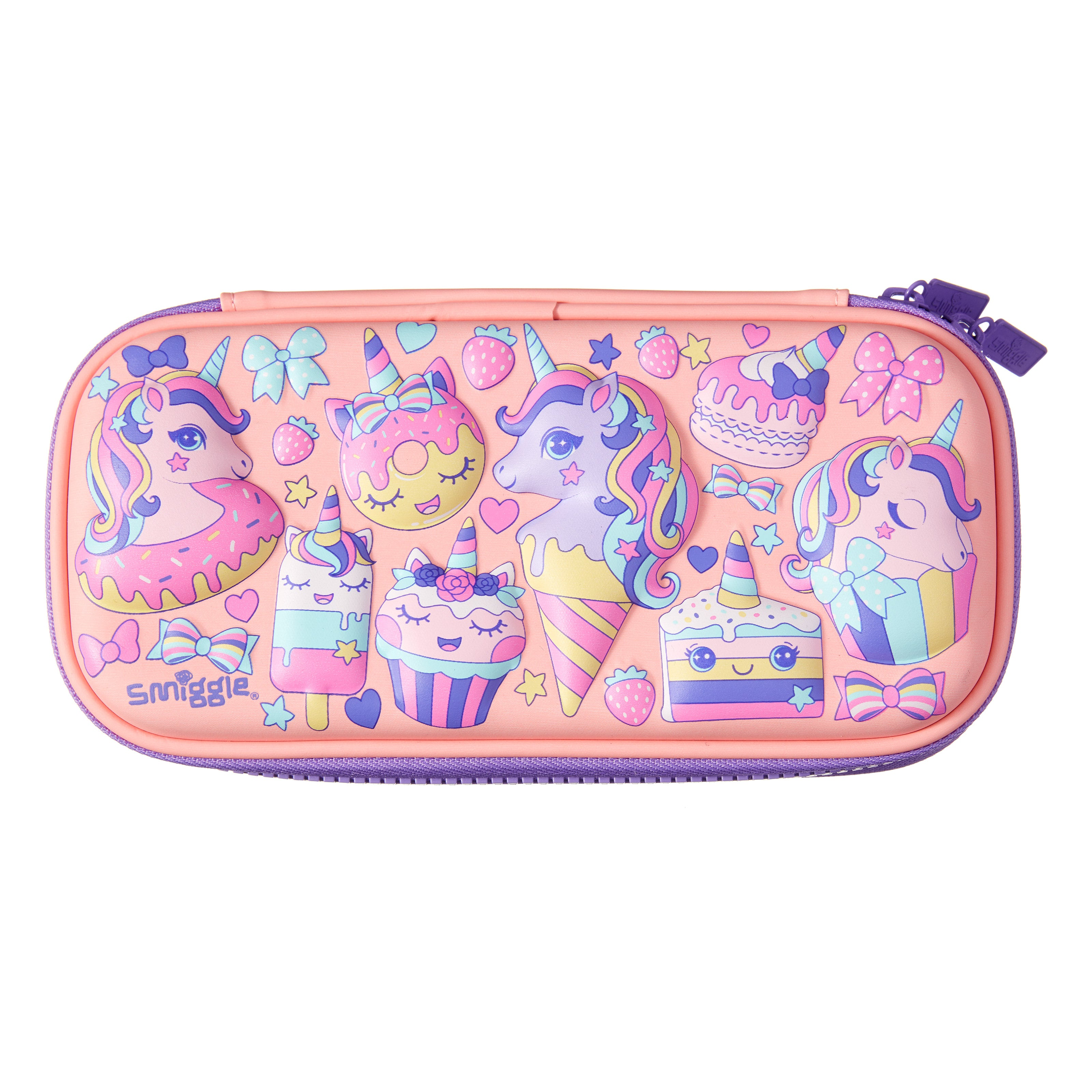 SMIGGLE - HIPPY SMALL HARDTOP PENCIL CASE CORAL