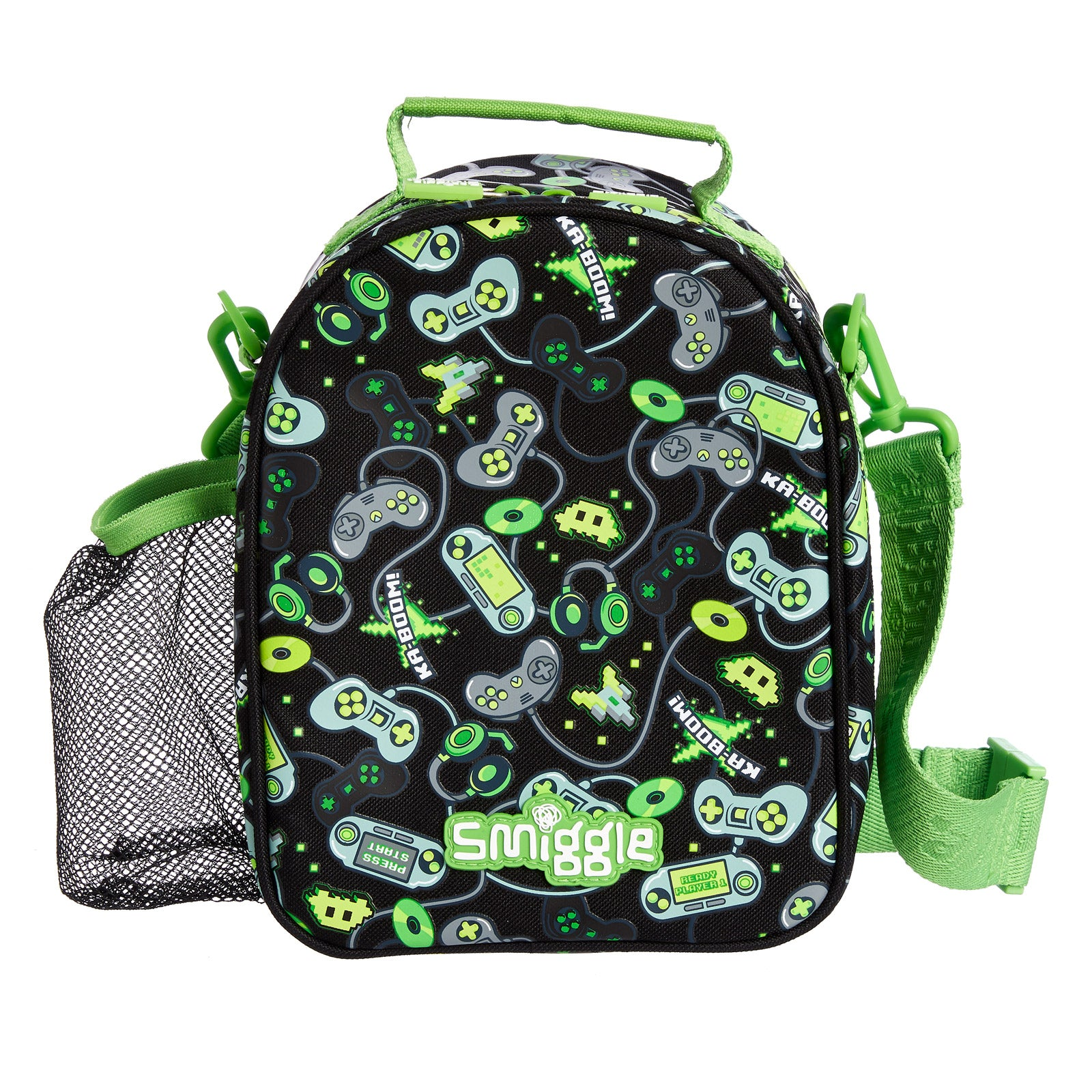 SMIGGLE -  DEJA VU CURVED LUNCHBOX PT2 BLACK