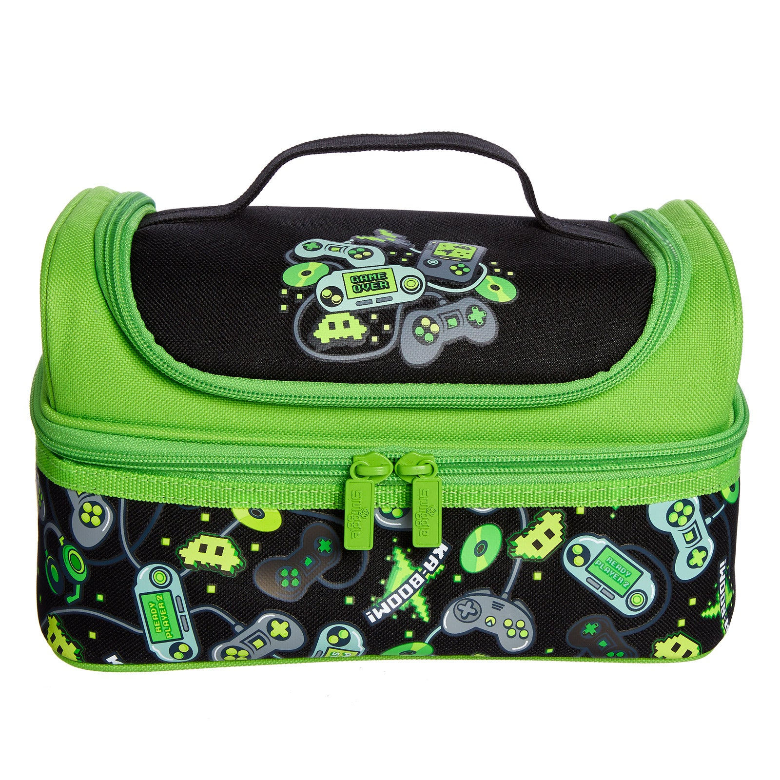 SMIGGLE - DEJA VU DOUBLE DECKER LUNCHBOX PT2 BLACK
