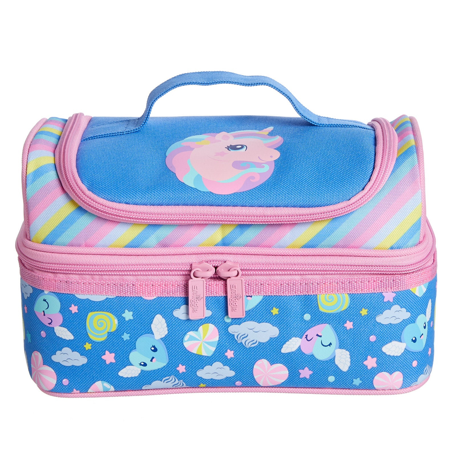SMIGGLE - DEJA VU DOUBLE DECKER LUNCHBOX PT2 CORN FLOWER