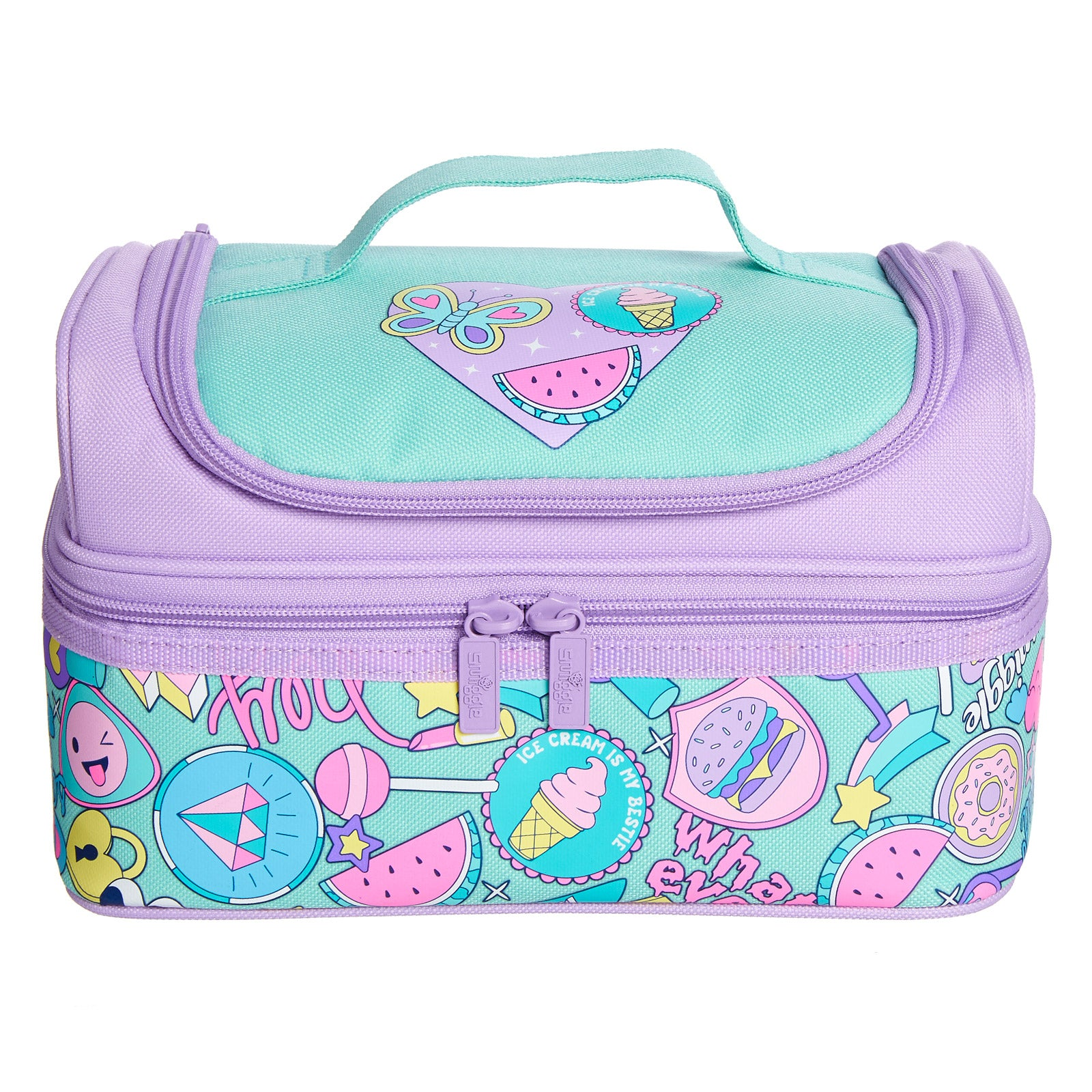 SMIGGLE - DEJA VU DOUBLE DECKER LUNCHBOX PT2 MINT