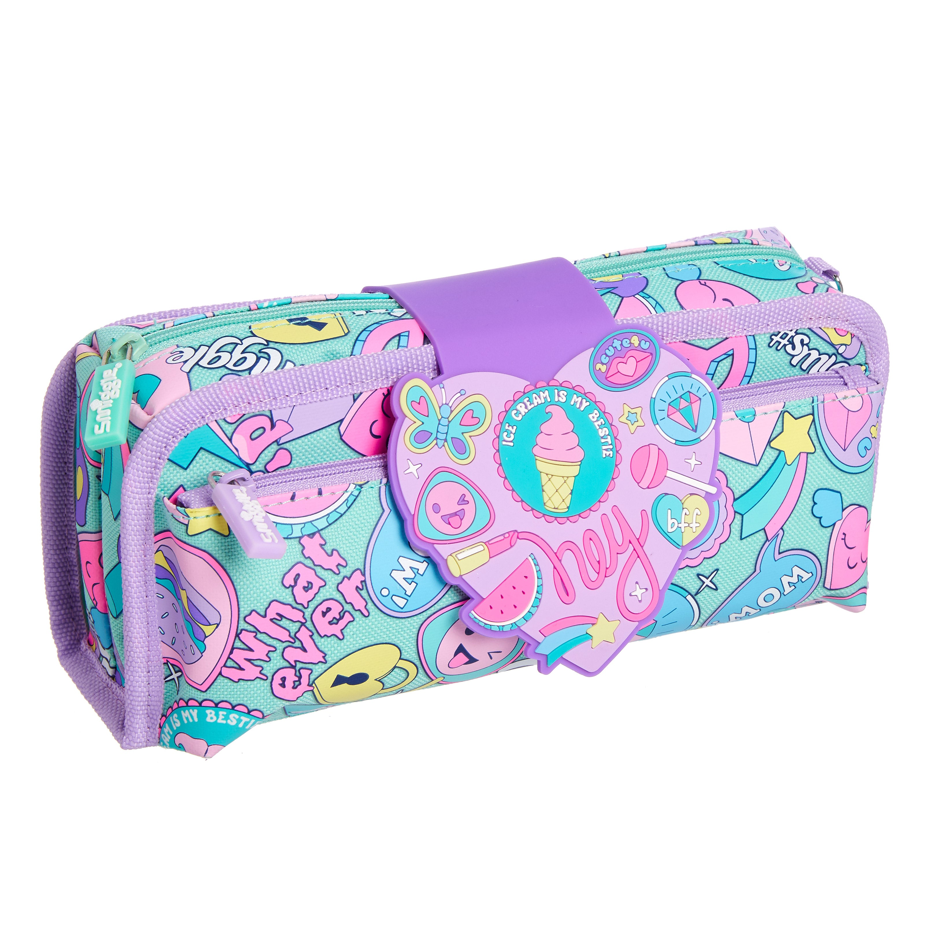 SMIGGLE - DEJA VU UTILITY PENCIL CASE MINT