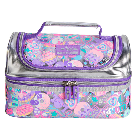 SMIGGLE - DOUBLE DICK FLASHY LUNCHBOX SILVER