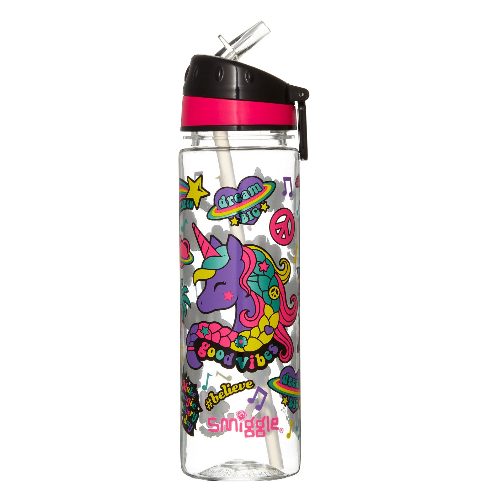 SMIGGLE - FRESH DRINK UP STRAIGHT WATER BOTTLE MIX