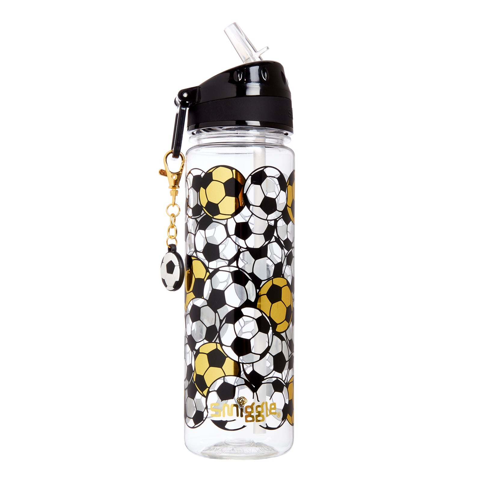 SMIGGLE - GOLD DRINK BOTTLE WITH CHARM