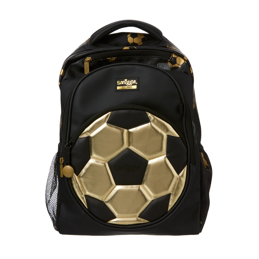 SMIGGLE - GOLD BACKPACK BLACK