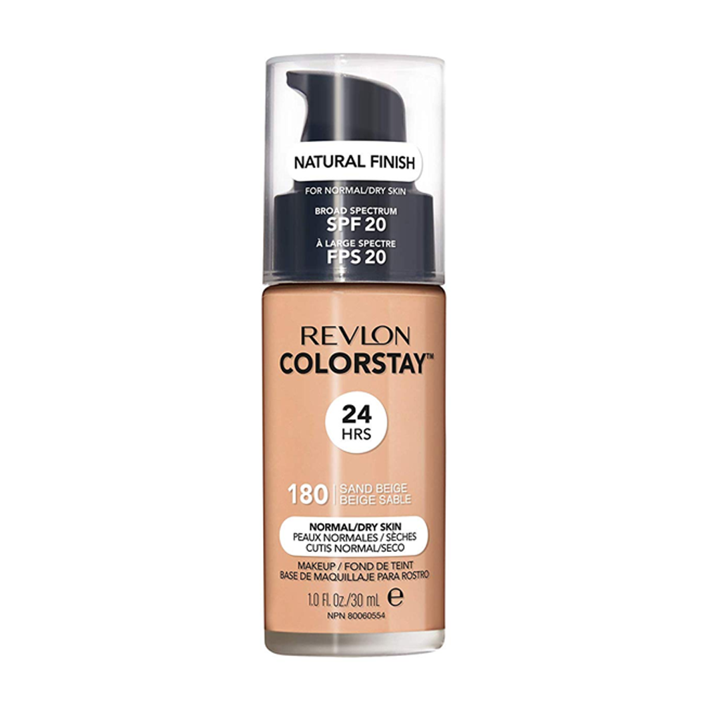 REVLON - COLORSTAY 24 HRS MAKEUP NORMAL/DRY SPF 20 180 SAND BEIGE (30 ML) - MyVaniteeCase