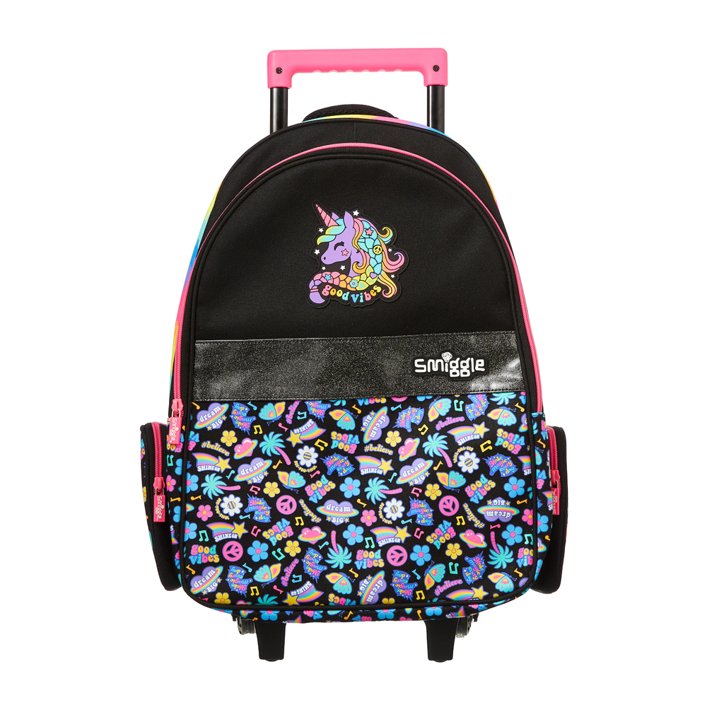 SMIGGLE - EXPRESS TROLLEY BACKPACK WITH LIGHT UP WHEELS MIX