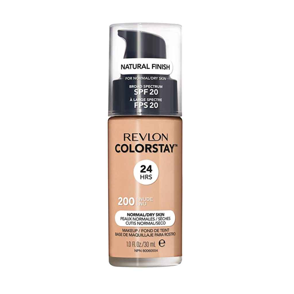 REVLON - COLORSTAY 24 HRS MAKE UP NORMAL TO DRY SPF 20 200 NUDE (30 ML) - MyVaniteeCase