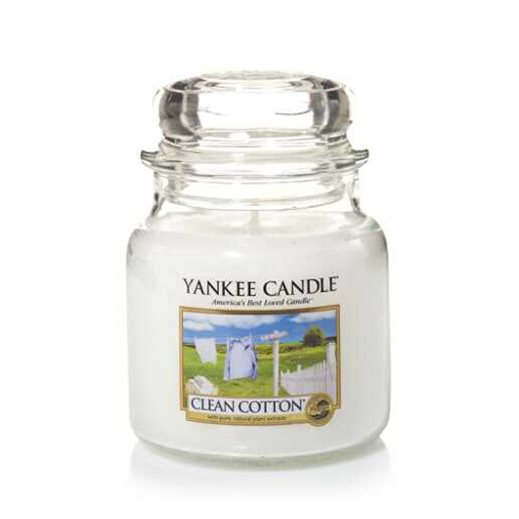 YANKEE CANDLE - CLEAN COTTON (411G) - MyVaniteeCase