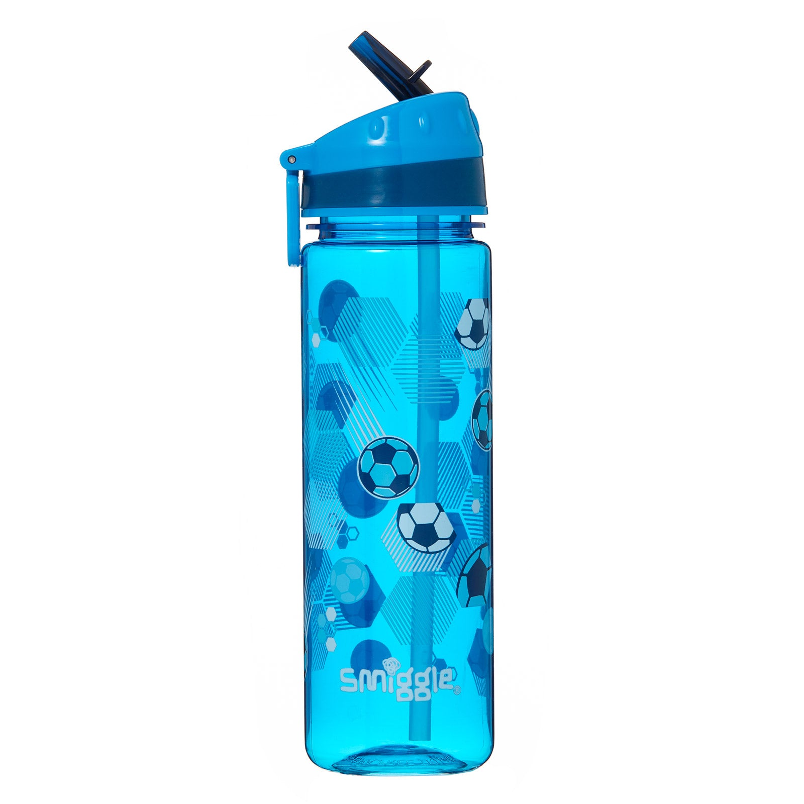 SMIGGLE - DEJA VU DRINK BOTTLE PT2 MID BLUE