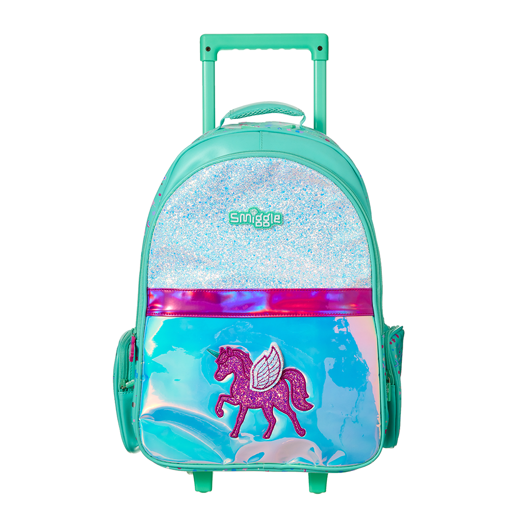 SMIGGLE - BELIEVE TROLLEY BACKPACK WITH LIGHT UP WHEELS - MyVaniteeCase