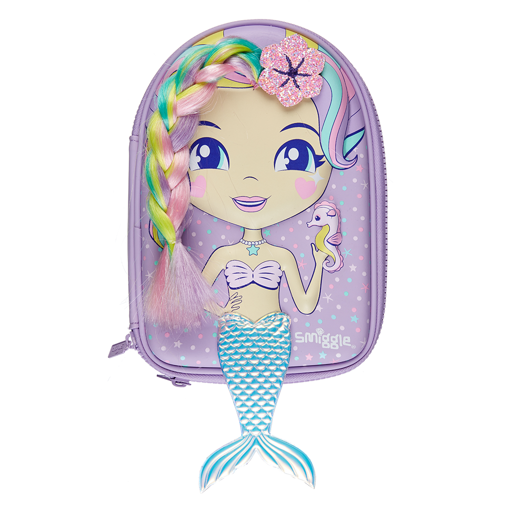 SMIGGLE - DOLLY WISHES HARDTOP PENCIL CASE LILAC - MyVaniteeCase