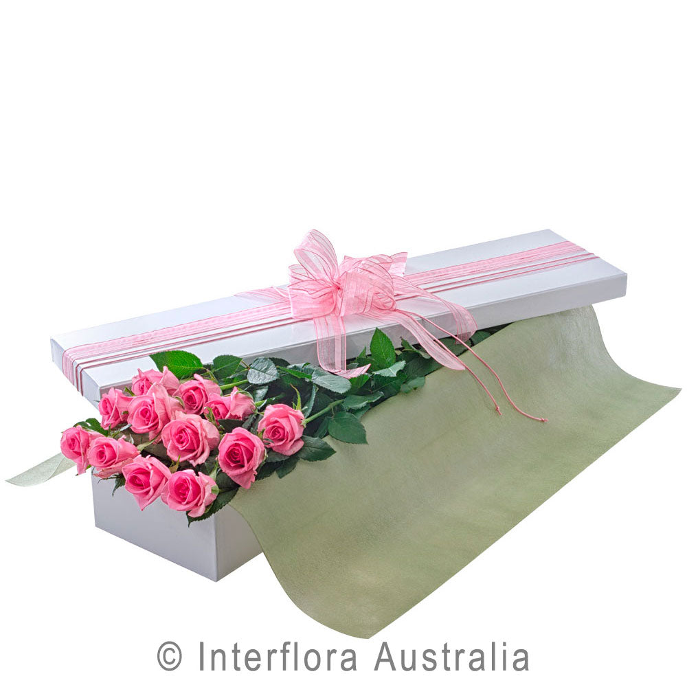 Seduction Wandin Florist Wedding Flowers Arrangement Long Stemmed Pink Roses Yarra Valley Lilydale Dandenong Ranges