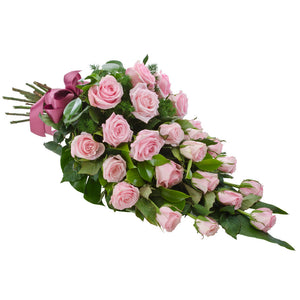 Passion Wandin Florist Wedding Flowers Arrangement Handttied Long Stem Pink Roses Seasonal Foliage Yarra Valley Lilydale