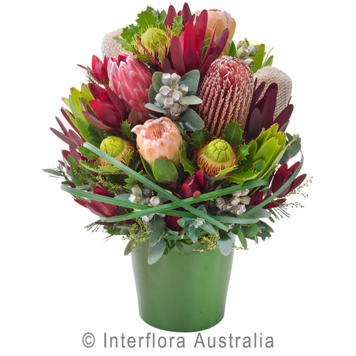 Bush Blooms Wandin Florist Mixed Natives Wedding Flowers Foliage Arrangements Yarra Valley Lilydale